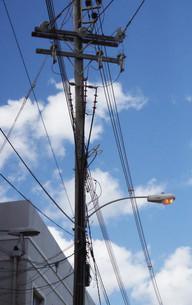 Los cables eléctricos tienen un cierto aspecto de maraña