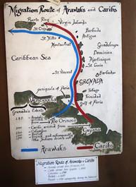 mapa de poblamiento de las islas del caribe oriental