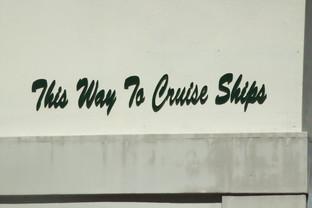 En muchos sitios hay indicaciones de dónde están los cruceros