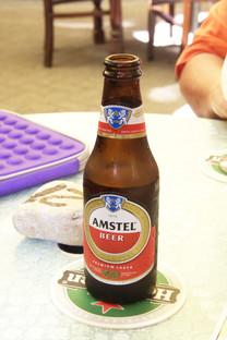 La cerveza Amstel como era de esperar en tierras con fuerte relación con Holanda