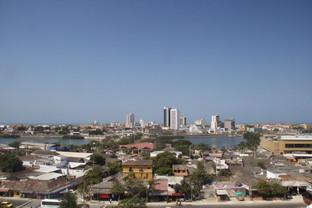 Vista de Cartagena subiendo al castillo