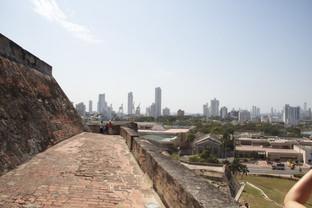 El barrio Baca Grande desde el castillo.