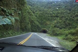 El túnel que habíamos visto a la llegada ahora nos sirve para irnos