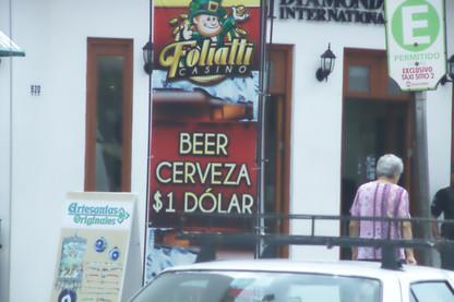 Camino del Malecón. Cerveza 1 US$
