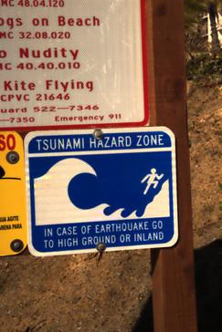Aviso de que en la playa puede haber tsunamis y qué hacer si llega uno