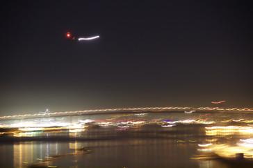 Avión sobre puente Coronaado