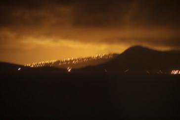Al fondo las luces de O'ahu