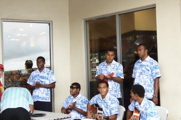 Orquesta que nos recibió