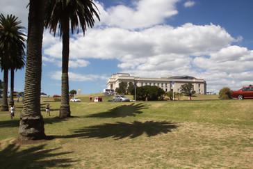 Un edificio en el Auckland Domain