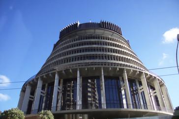 """Paseando por la ciudad hay un edificio que llama la atención. Es el del parlamento y los neozelandeses lo llaman """"La Colmena"""""""