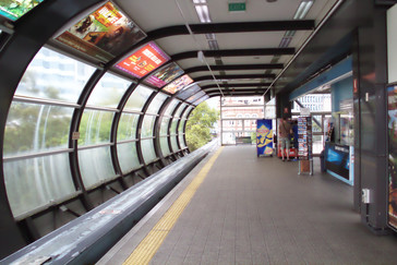 Una estación de monorail.