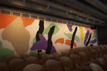 Mural de la parte de atrás de la habitación de Utzon