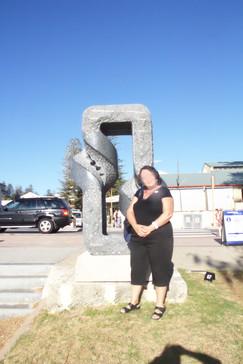 Una de las esculturas