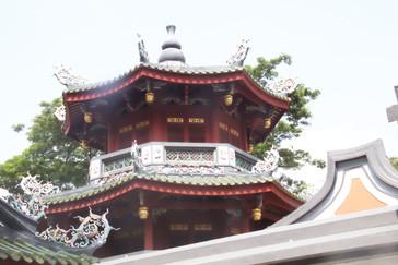 Detalle del templo chino Thian Hock Keng