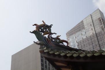 Los tejados de los templos chinos siempre soprenden