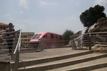 Monorailo en la estación del Merlion.