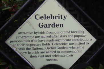 El jardín de las celebridades