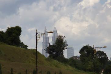 Un detalle de las torres petronas
