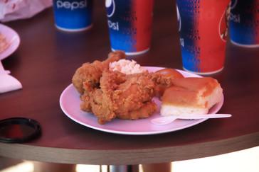 Pollo frito al estilo de Kentucky con un fuerte picante malayo