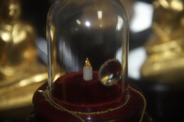 El buda de oro más pequeño del mundo --según el letrero del Museo.