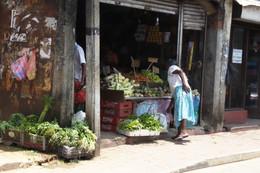 Una tienda de vegetales