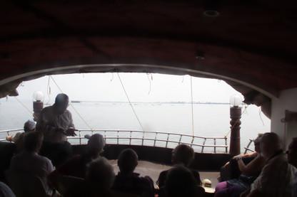 Aspecto del interior de la casa bote