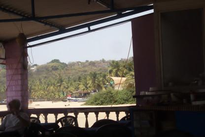 Lo que se veía desde uno de los lados del chiringuito de playa