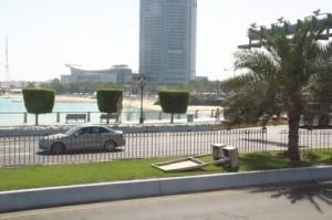 Una de las playas de Abu Dabi