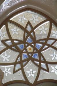 Detalle del centro del rosetón