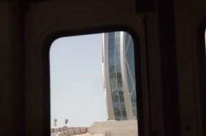 En esta foto tomada desde la ventana del autobús podemos ver el grosor
