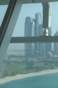 Al fondo las torres Ethad