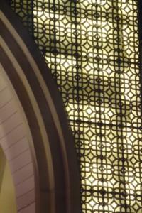 Detalle arco de entrada al Dubai Mall