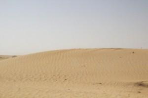 Cuando llegamos esta duna estaba sin ninguna huella. Tan solo estaba ese rizado que tanto recuerda a las olas. Al irnos estaba lleno de huellas de pies.