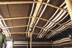 Detalle de las lonas del techo