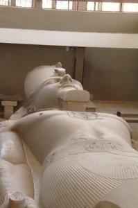 Detalle estatua de Ramses II