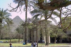 Pirámides desde los jardines de Mena House