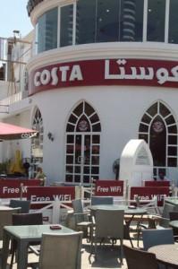 Cafetería Costa, que tenía muy buena pinta, pero que no probamos.