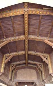 Un detalle del techo e madera