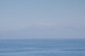 Nieve en las cumbres de Creta