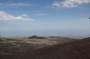 Desde el Etna se ve el mar