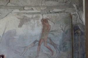 Mosaico en el suelo de la casa