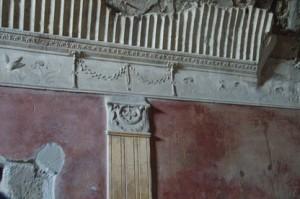 Detalle de paredes y techo