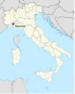 Ubicación de Savona