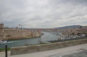 El puerto visto desde el palacio del Faro