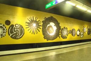Pasillos metro de Marsella