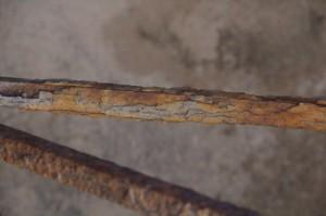 Barandillas oxidadas con sus cromatismos rojizos