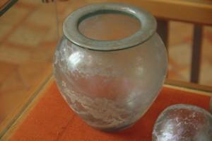 Recipientes de cristal romanos