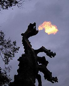 Las llamas del dragón. Foto gentileza de Wikimedia