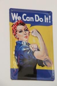 We can do it! que podemos traducirlo como Podemos hacerlo o simplemente ¡Podemos¡