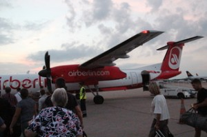 El avión que nos llevó a Cracovia
